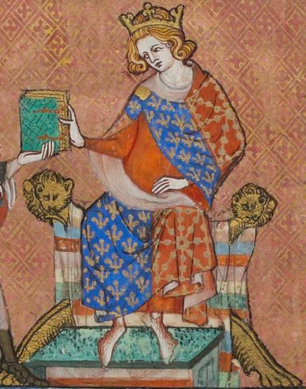 Miniature portrait from the Vie de saint Louis, c.1330–1340